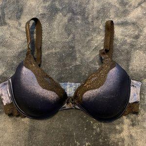 Ambrielle Blue Push Up Bra with Lace Detail | 38C